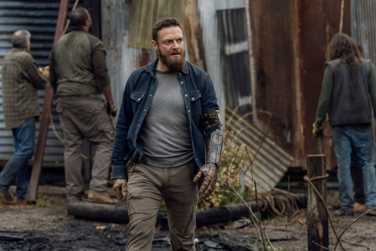 Ross Marquand stars as Aaron, as seen in Season 11 of AMC's The Walking Dead