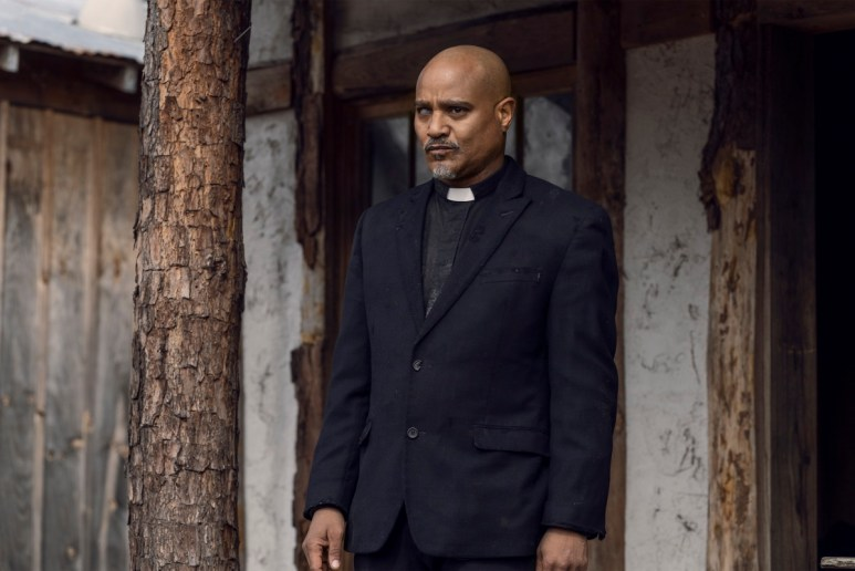 Seth Gilliam stars as Father Gabriel Stokes, as seen in Season 11 of AMC's The Walking Dead