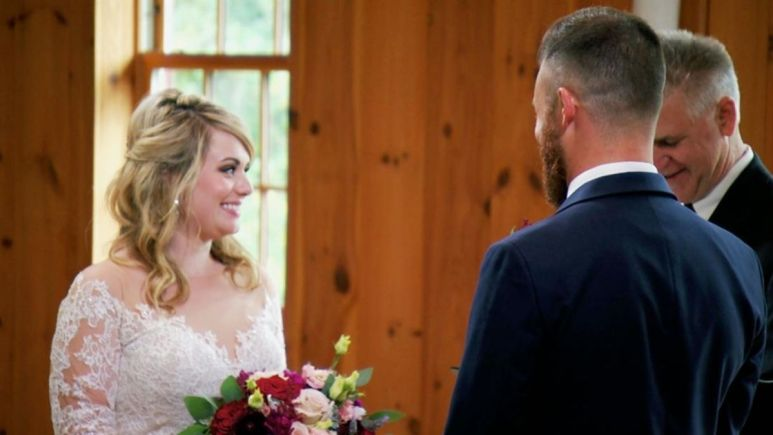 Kate and Luke meet for the first time at their wedding