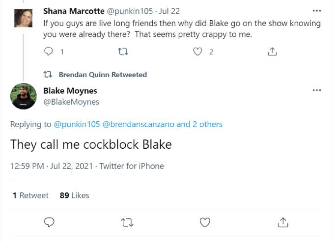 Blake Moynes responds to backlash from critics.