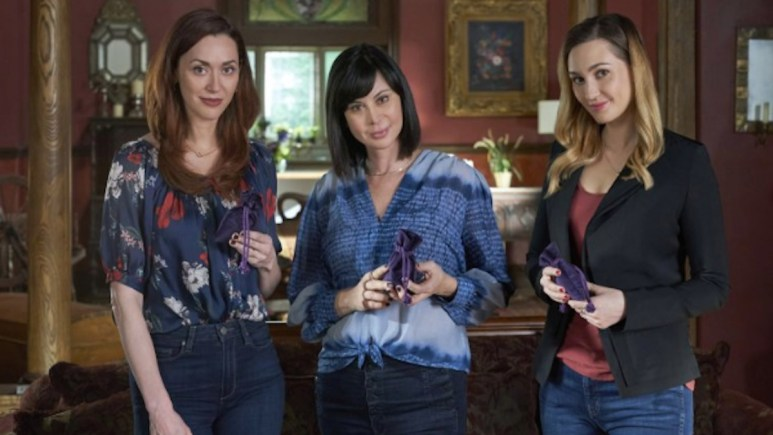 Sarah Power, Catherine Bell, and Kat Barrell of Hallmark Channel's Good Witch.