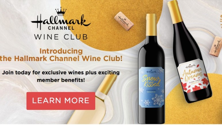 Hallmark wine club advert