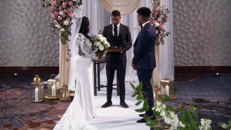 MAFS Chris Williams  and Paige Banks exchange vows during wedding ceremony
