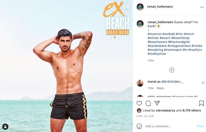 renan hellemans on ex on the beach double dutch mtv