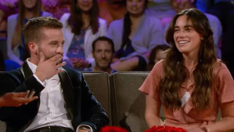 Connor B and Tara Kelly film for The Bachelorette