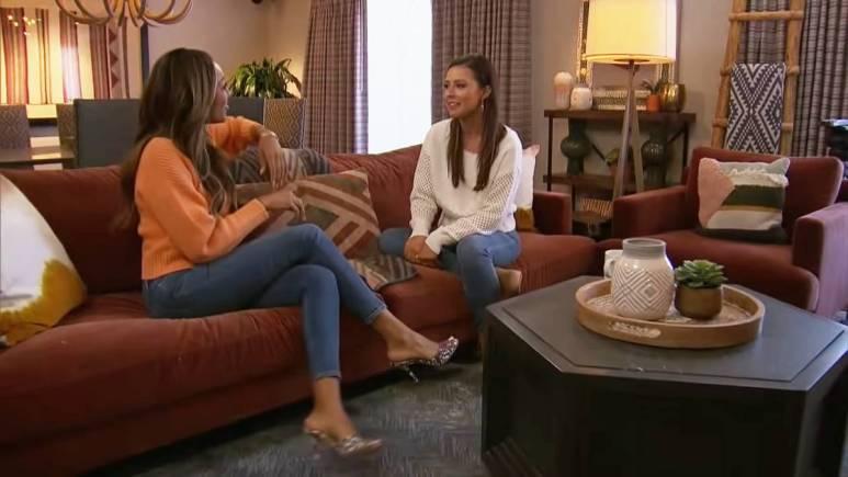 Tayshia Adams and Katie Thurston film for The Bachelorette