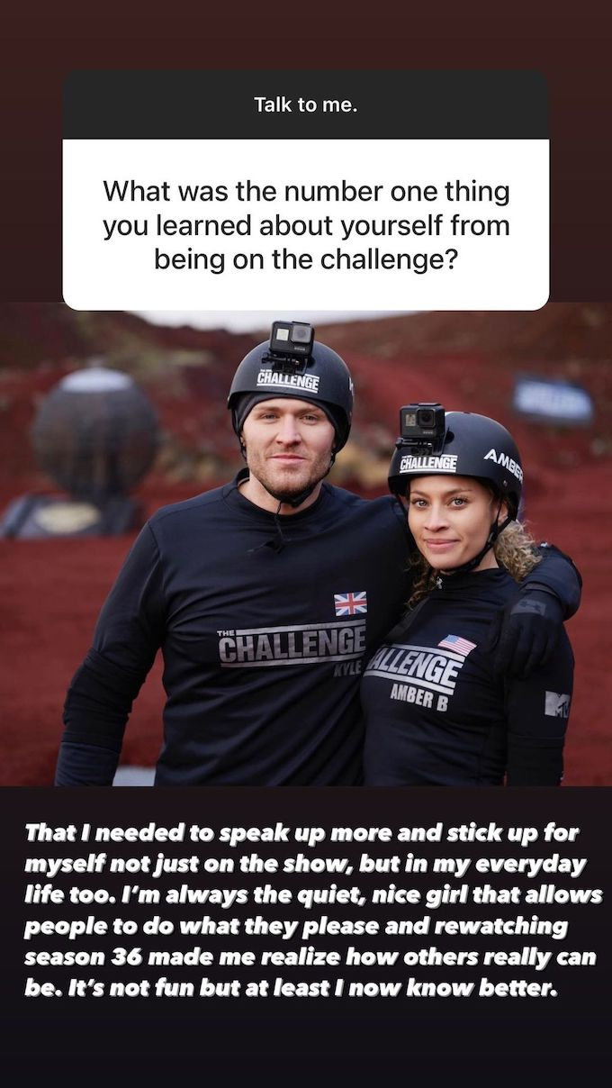 amber borzotra the challenge comments about season 36