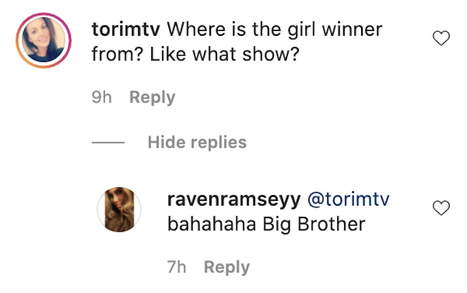 tori hall of the challenge comments on season 37 winners