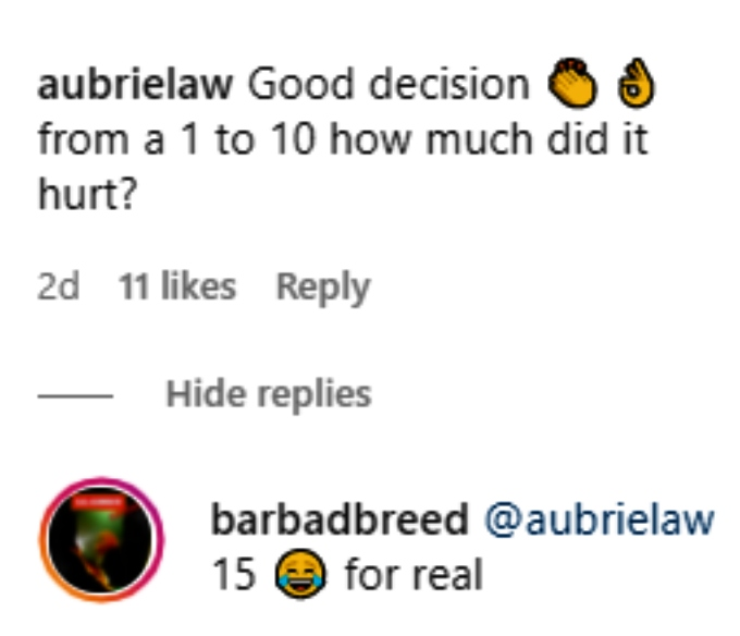 bar smith answered fan questions about his laster tattoo removal on instagram