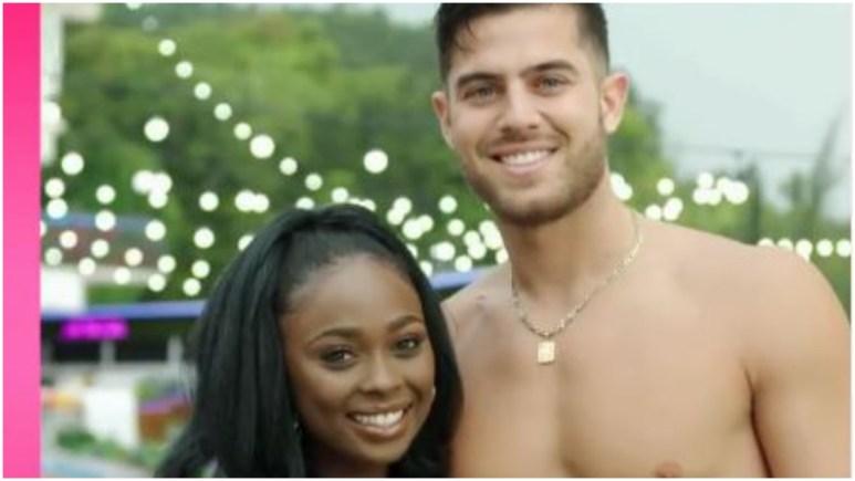 Andre and Trina on Love Island USA