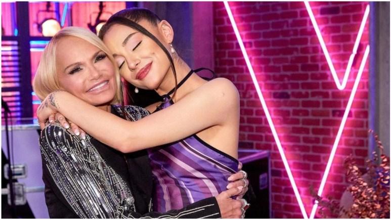 Ariana Grande and Kristin Chenoweth on The Voice