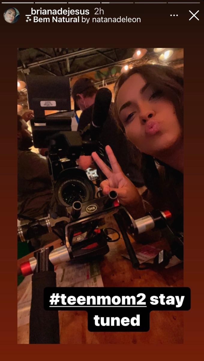 Briana DeJesus filming for Teen Mom 2