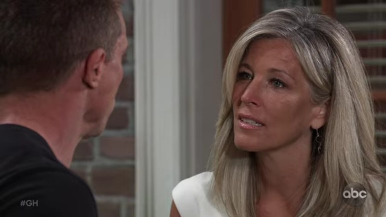 Carly and Jason on General Hospital.
