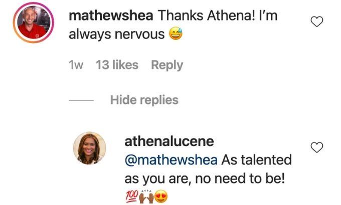 Chef Mathew response to Athena praise