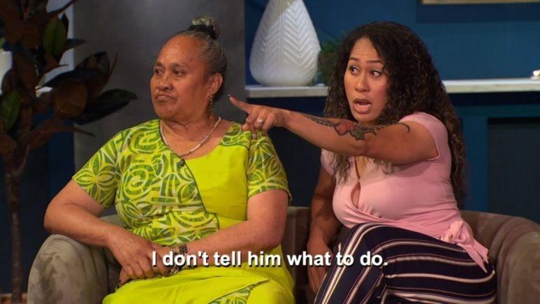 Asuelu's mom and sister