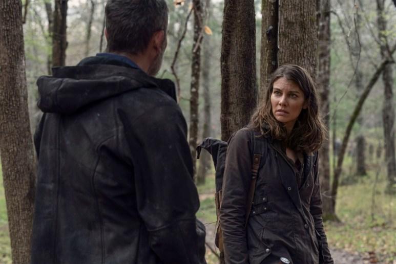 Jeffrey Dean Morgan as Negan and Lauren Cohan as Maggie, as seen in Episode 3 of AMC's The Walking Dead Season 11