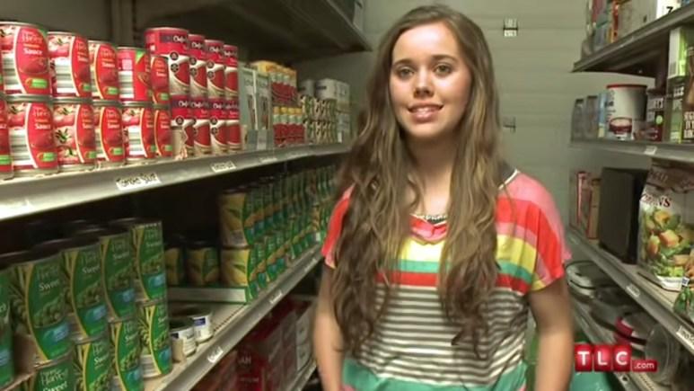 Jessa Duggar in the pantry.