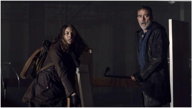 Lauren Cohan as Maggie Rhee and Jeffrey Dean Morgan as Negan, as seen in Episode 3 of AMC's The Walking Dead Season 11