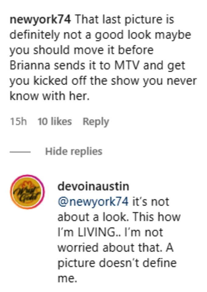 devoin austin of teen mom 2 posed with a gun on instagram and his followers reacted