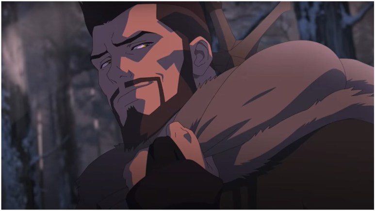 Vesemir, as seen in the 2D anime movie, Netflix's The Witcher: The Nightmare of the Wolf