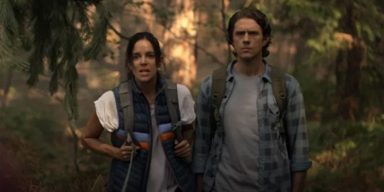 Tiffany Dupont as Addy and Aaron Tveit as Jay, as seen in Episode 6 of FX's American Horror Stories