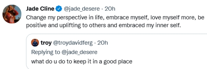 jade cline of teen mom 2 tweeted about her mental health in response to a fan's question