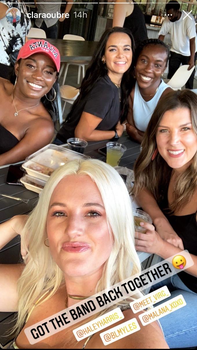 Clara smiles with her MAFS Season 12 gal pals