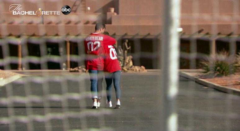 Katie Thurston and Blake Moynes film for The Bachelorette