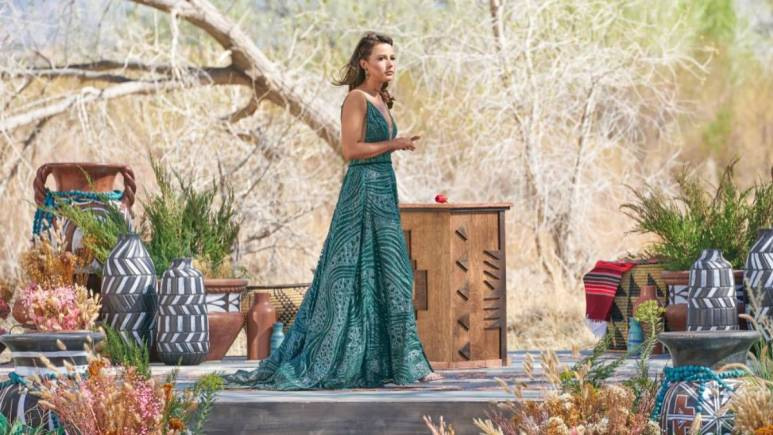 Katie Thurston films for The Bachelorette finale.