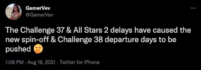 challenge all stars 2 and regular season rumors for filming via gamervev