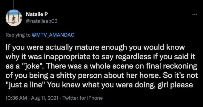 fans of the challenge react amanda garcia tweet