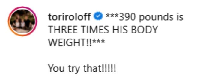tori roloff of lpbw shared husband zach's weightlifting accomplishment on instagram