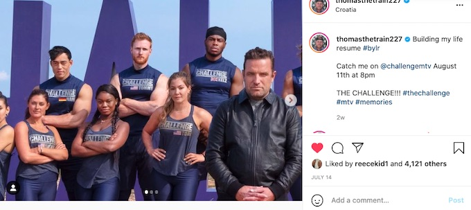 tommy sheehan announces the challenge season 37
