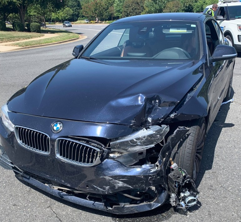 Pictures from Veronica's car accident.