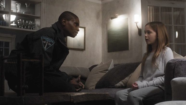 Adina Porter as Chief Burleson and Ryan Kiera Armstrong as Alma Gardner, as seen in Episode 3 of FX's American Horror Story: Double Feature