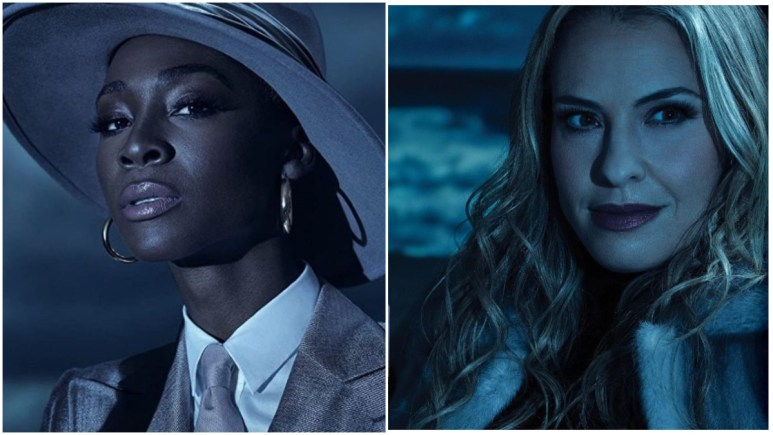 Angelica Ross as The Chemist and Leslie Grossman as Ursula star in FX's American Horror Story: Double Feature