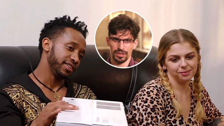 Biniyam Shibre, Ariela Weinberg and her ex-husband Leandro on 90 Day Fiance The Other Way