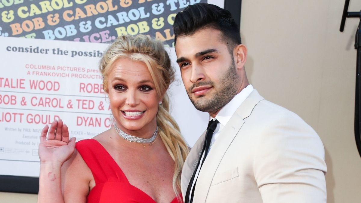 Red carpet image of Britney Spears and Sam Asghari