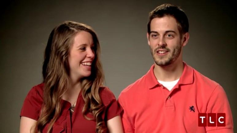 Jill Duggar and Derick Dillard in a confessional.