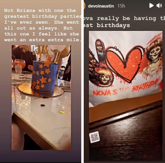 devoin austin of teen mom 2 shared pics from nova's 10th birthday on instagram