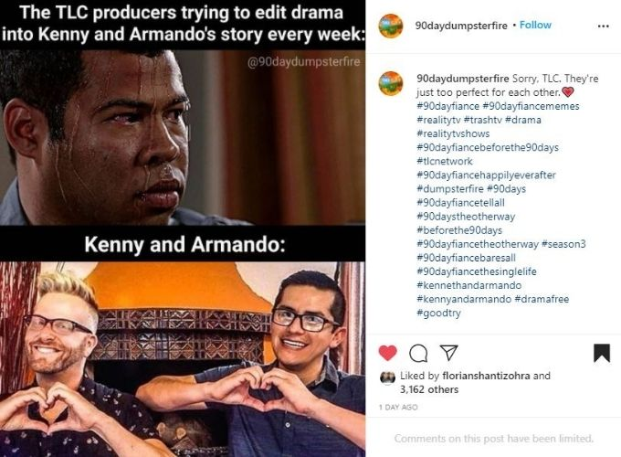 IG post about Kenny and Armando.