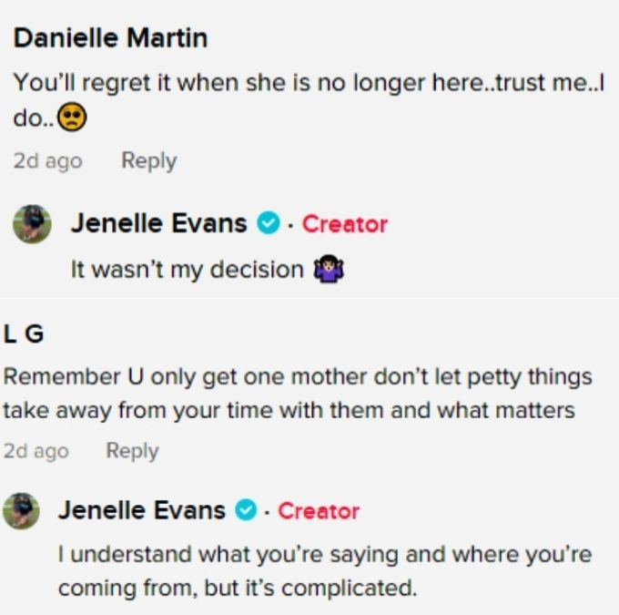 jenelle evans' followers on tiktok commented about reconciling with mom barbara evans