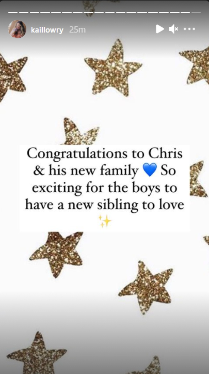 kail lowry shared on her instagram stories that her baby daddy chris lopez is expecting another baby with someone else