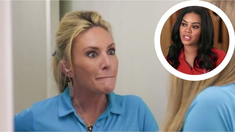 Kate Chastain from Below Deck reacts to Lexi Wilson on Below Deck Mediterranean.