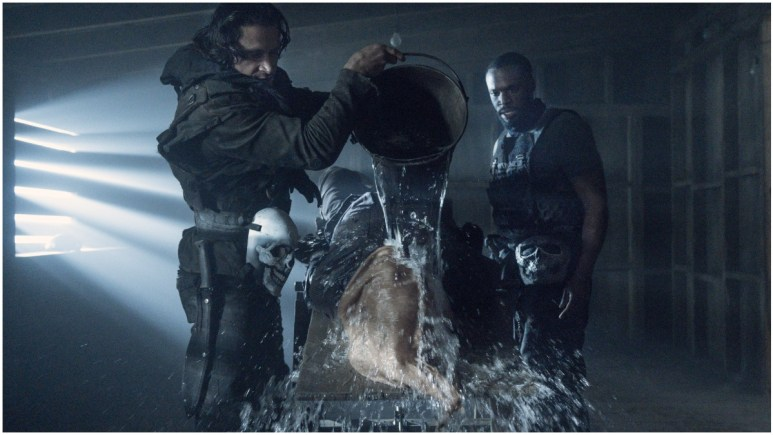 Norman Reedus as Daryl Dixon, Alex Meraz as Brandon Carver, Robert Hayes as Paul Wells, as seen in Episode 4 of AMC's The Walking Dead Season 11
