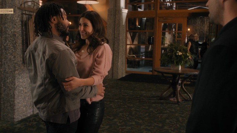 Cristina Rosato and Brandon Jay McLaren in Turner & Hooch