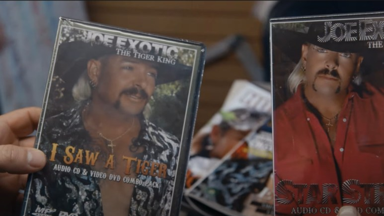 Images of Joe Exotic on Dvd covers