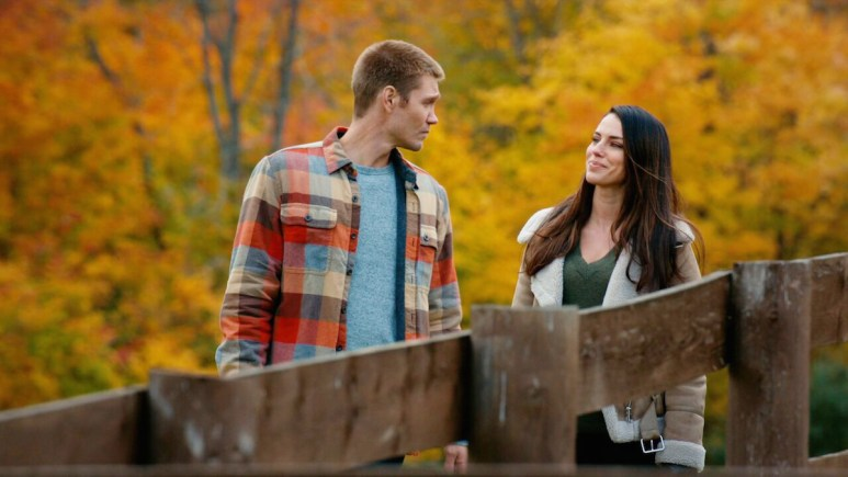 Chad Michael Murray and Jessica Lowndes in the GAC Family movie An Autumn Romance