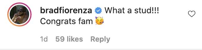brad fiorenza comments on instagram post brad baby pics