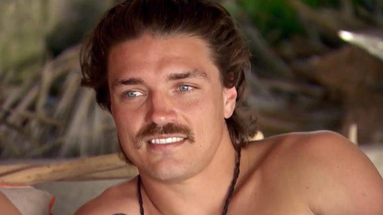 Dean Unglert shirtless in paradise